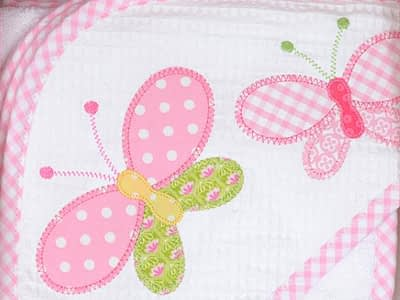 3 marthas hooded towel and washcloth set butterfly