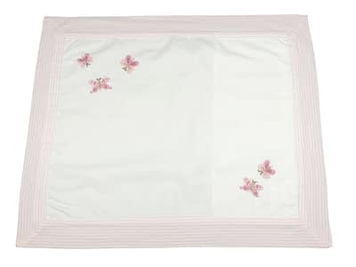 embroidered baby pillow shams pink butterflies ps