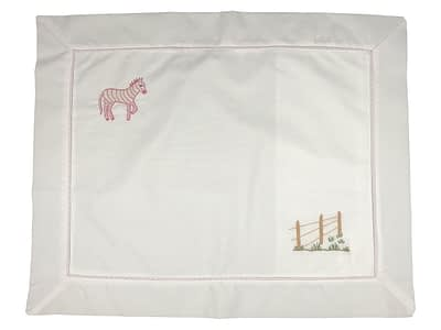 embroidered baby pillow shams pink zebra