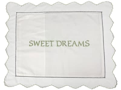 embroidered baby pillow shams sweet dreams