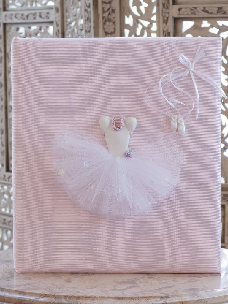 baby books by marcella ballet tutu on pink moire large